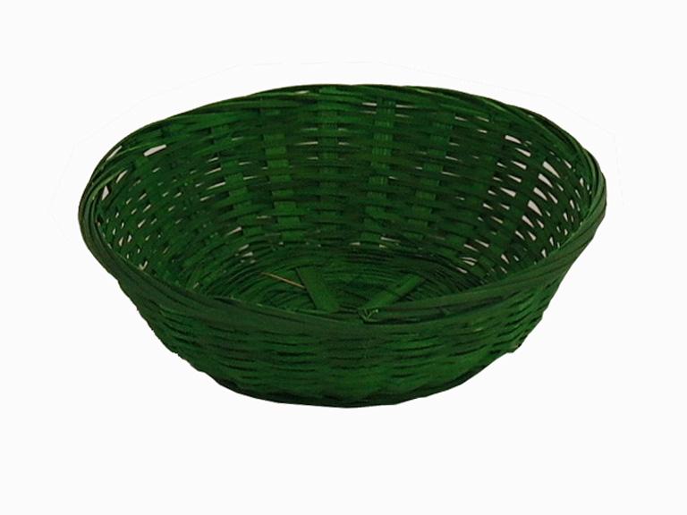 Hasított bambusz 20 cm szines kosár (B) zöld