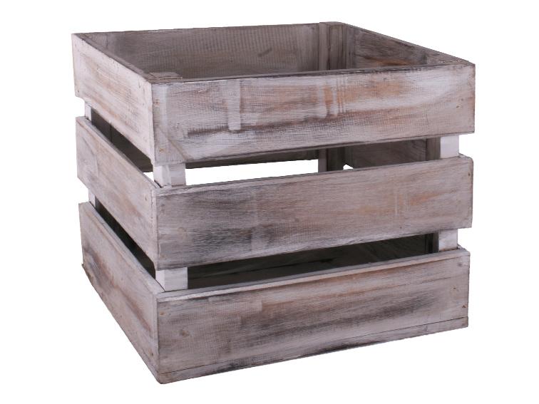 Egyedi bútor/kiegészítő Shabby láda magas 3 léces I