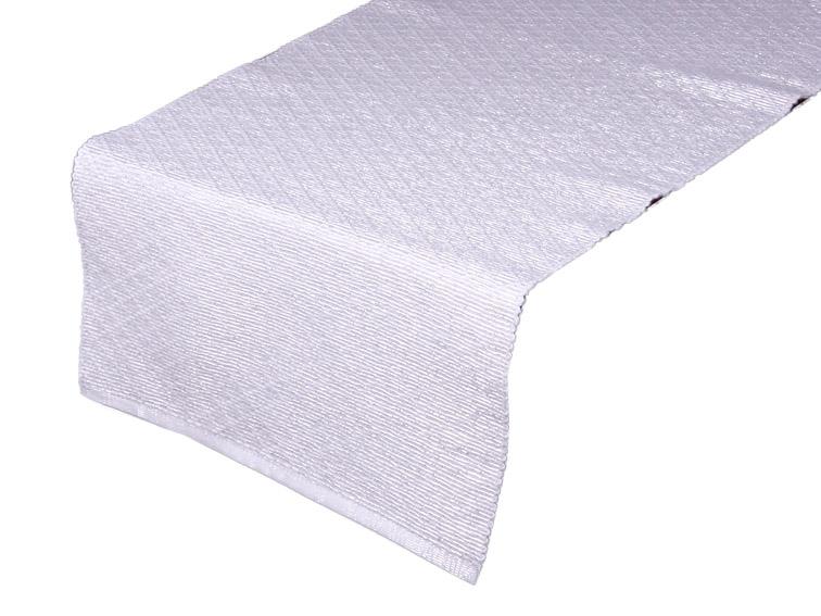 Karo Futó 35*160 fehér-ezüst