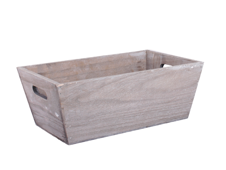 Fa doboz mintás I. szürke 32*21*12